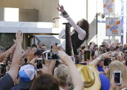 Steven Tyler performs on the NBC Today Show