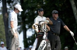McIlroy, Schwartzel and Clarke stand on 12th tee at 93rd PGA Championship
