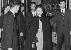 Madame Chiang Kai-shek leaves San Francisco hotel