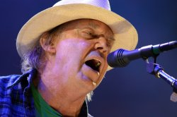 Neil Young at Farm Aid in Hershey, PA