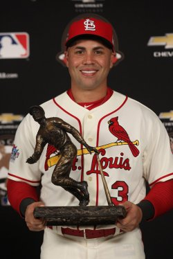 St. Louis Cardinals Carlos Beltran wins the Roberto Clemente Award for 2013