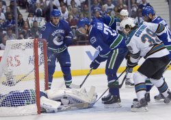 Fifth game of NHL Western Conference Finals, Vancouver Canucks home to San Jose Sharks