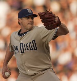 Padres Pitcher Correia Throw Against the Rockies in Denver