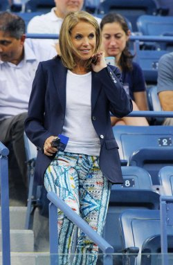 Katie Couric attends at the U.S. Open in New York