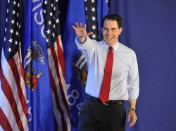 Walker Holds Election Night Rally in Waukesha, Wisconsin