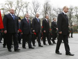 RUSSIAN PRESIDENT PUTIN ATTENDS WREATH LAYING CEREMONY IN MOSCOW