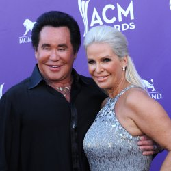 Singer Wayne Newton and Kathleen McCrone arrive at the Academy of Country Music Awards in Las Vegas