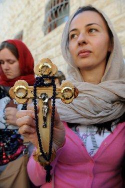 Christians Carry Crosses On Good Friday, Jerusalem