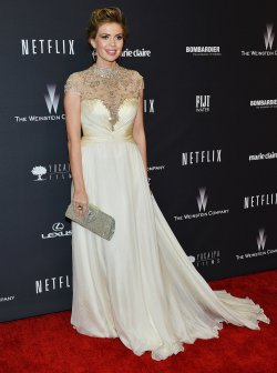 Alyssa Milano attends the Weinstein Company and Netflix 2014 Golden Globes After Party