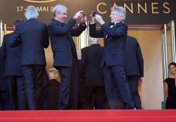 Claude Lelouch and Roman Polanski attend the Cannes Film Festival