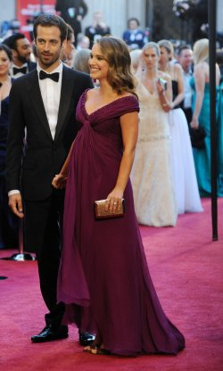 Natalie Portman and Benjamin Millepied arrive at the 83rd Academy Awards in Hollywood