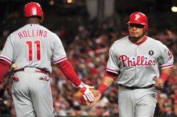 Phillies' Carlos Ruiz scores in Washington