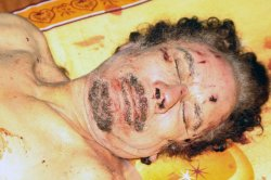 The body of the former leader of Libya Moammar Gaddafi