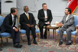 Iran's President Mahmoud Ahmadinejad meets world leaders in Tehran