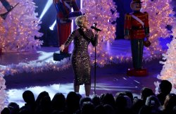 Mary J. Blige performs during the Rockefeller Center Christmas Tree Lighting Ceremony in New York