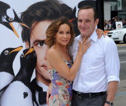 "Clark Gregg and Jennifer Grey attend the premiere of ""Mr. Popper's Penguins"" in Los Angeles"