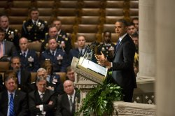 Obama Speaks at Service for Inouye