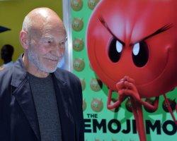 """Patrick Stewart attends """"The Emoji Movie"""" premiere in Los Angeles"""
