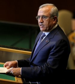 Lebon's President Michel Sleiman addresses the General Assembly at United Nations