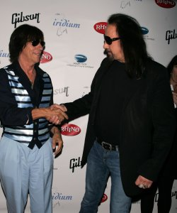 "Ace Frehley and Jeff Beck arrive for ""A Celebration of Les Paul"" concert in New York"