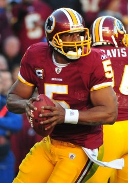 Redskins' quarterback Donovan McNabb in Washington