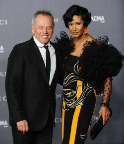 Chef Wolfgang Puck and designer Gelila Assefa attend the LACMA Art + Film gala in Los Angeles