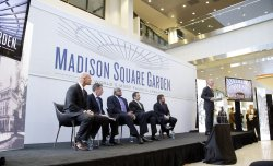 Ribbon cutting and unveiling of the transformed Madison Square Garden in New York