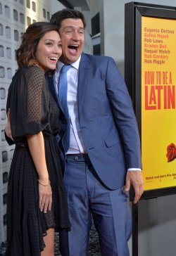 "Ken Marino and Erica Oyama attend the ""How to Be a Latin Lover"" premiere in Los Angeles"