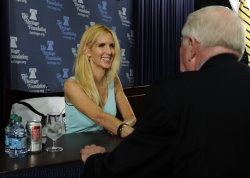 "Ann Coulter discusses her book ""Demonic: How the Liberal Mob is Damaging America"" in Washington"