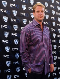 Lane Kiffin attends FOX Sports/PAC-10 Conference Hollywood premiere night in Los Angeles