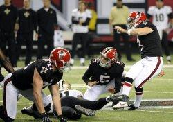 The Atlanta Falcons play the New Orleans Saints in Atlanta
