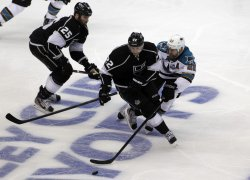 Los Angeles Kings vs. San Jose Sharks Game 1 NHL Western Conference Playoffs in Los Angeles