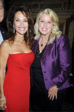 Susan Lucci and Rita Cosby at Susan's book signing at the Friars Club
