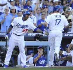 Los Angeles Dodgers vs St. Louis Cardinals in Game 5 of the NLCS in Los Angeles
