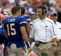 University of Florida head coach Urban Meyer at game against Troy Trojans