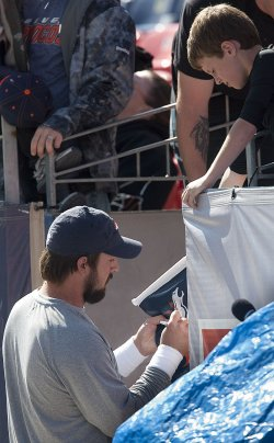 Denver Broncos Quarterback Kyle Orton Signs Autographs in Denver