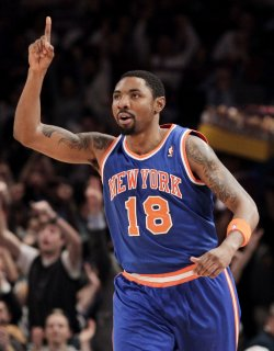 New York Knicks Roger Mason Jr. at Madison Square Garden in New York