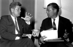 PRESIDENT JOHN F. KENNEDY MEETING WITH ROBERT MCNAMARA