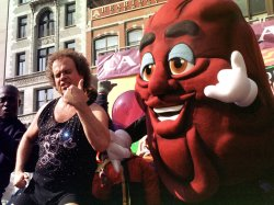 newly revamped solo California Raisin characther introduced