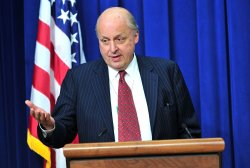 John Negroponte, Chairman of the Council of the Americas, delivers remarks at the Conference on Connecting the Americas in Washington