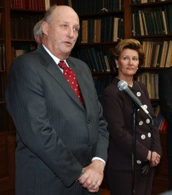 KING HARALD V, QUEEN SONJA OF NORWAY VISIT WASHINGTON