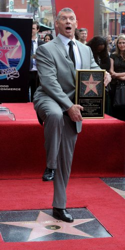 Vince McMahon receives star on Hollywood Walk of Fame in Los Angeles