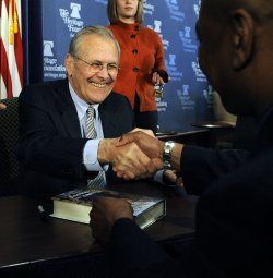 Former Sec. Defense Rumsfeld discusses his book in Washington