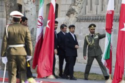 Official welcome ceremony for Turkish President Abdullah Gul in Tehran, Iran