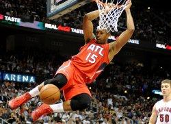 The Atlanta Hawks play the Toronto Raptors in Atlanta