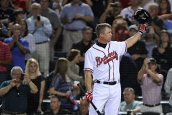 The Atlanta Braves play the St. Louis Cardinals in their National League wild card baseball game in Atlanta