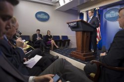 White House Press Briefing in Washington