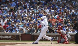 Cubs Willson Contreras hits a two-run home run against the Cardinals in Chicago