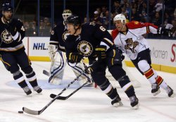 St. Louis Blues Erik Johnson and Florida Panthers Gregory Campbell