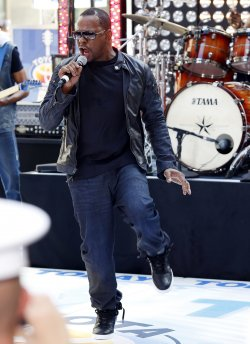 Bobby Brown performs on the NBC Today Show at Rockefeller Center in New York
